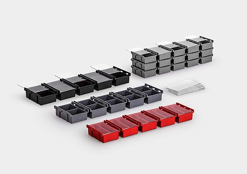 InsertSplitBox: a multiple packaging system with individual detachable units.