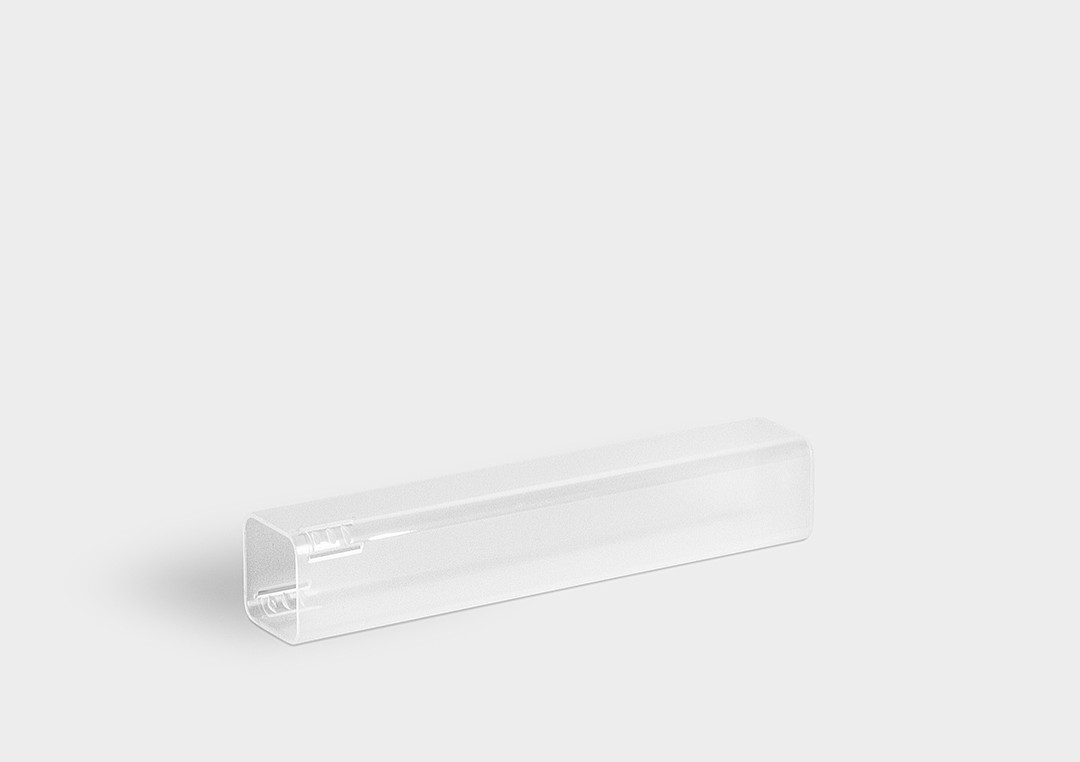 TopPack: a single packaging tube with short shankholding base-plug or telescopic inner section.