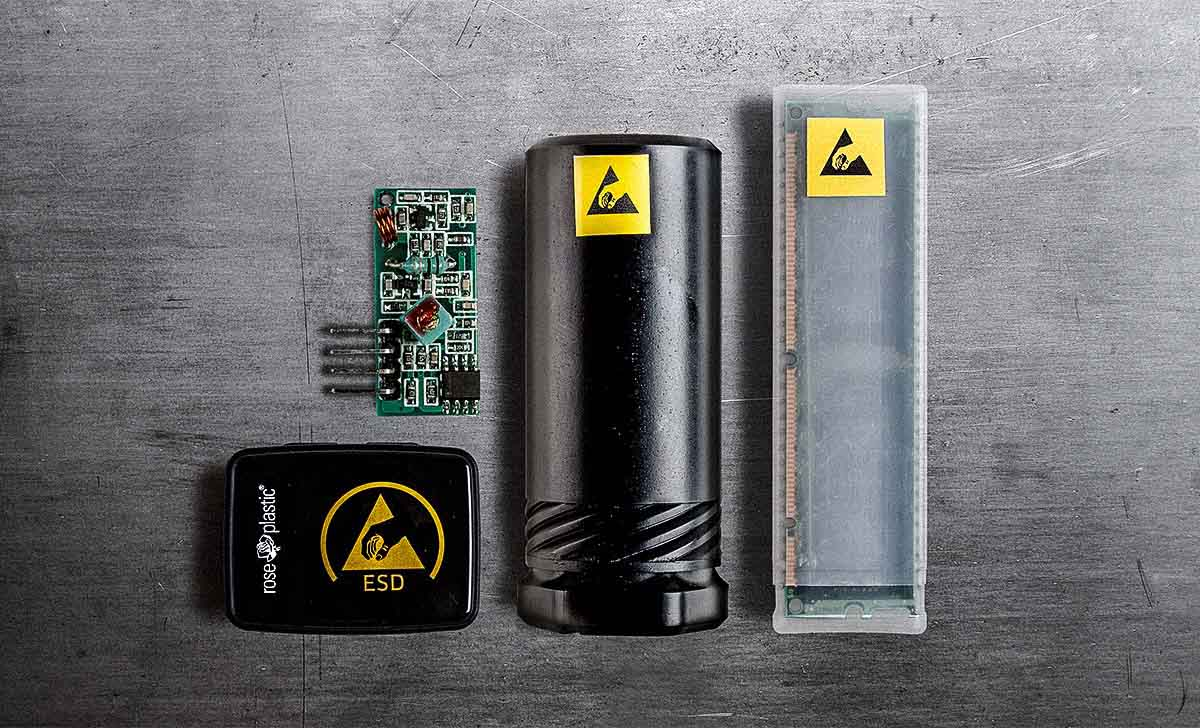 Our ESD protective packaging solutions protect sensitive electronic components from electrostatic discharge.