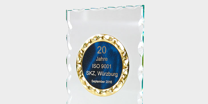 20 years of DIN ISO 9001 certification.